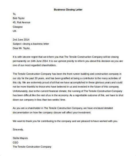 business letter closing 50 business letter templates pdf doc free premium 33597
