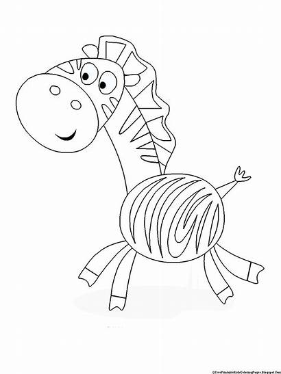 Coloring Pages Printable Zebra