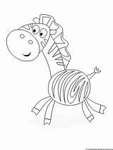 Coloring Printable Zebra sketch template