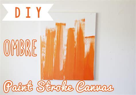 diy orange ombregradient paint stroke canvas art  room