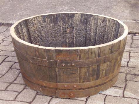 Recycled Oak Whisky Barrel, Half Barrel Planter