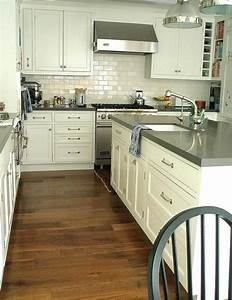 Grey Quartz Countertops - Transitional - kitchen - Carla ...