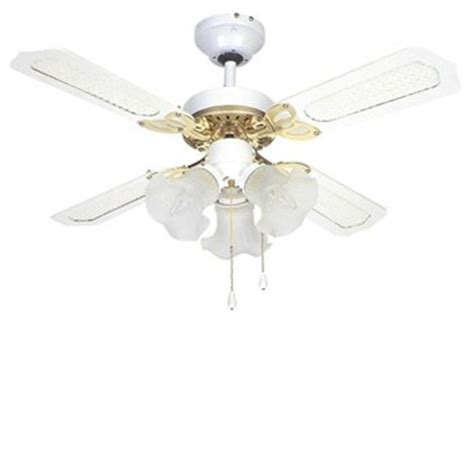 36 inch ceiling fan with light global 36 rio ceiling fan in white and brass with 3