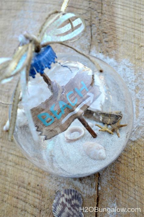diy beach themed christmas ornament
