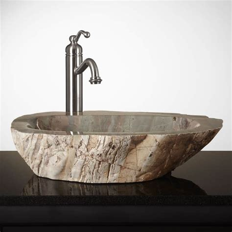 15 Unique Bathroom Natural Stone Sinks  Designrulz