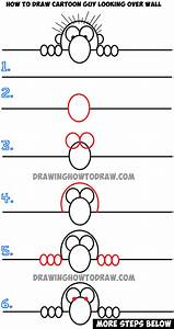 How to Draw Cartoon Guy Looking Over a Wall - Easy Drawing ...
