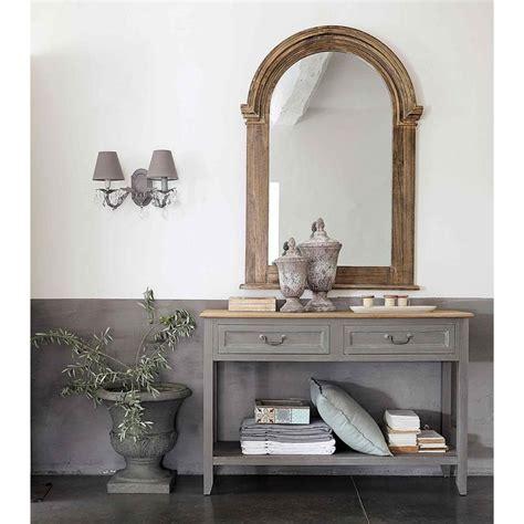 awesome table console en bois grise  cm honorine maisons du monde  consoles maison du monde