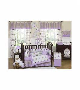 sweet jojo designs mod dots purple 9 crib bedding set