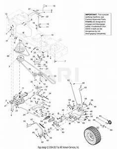 Mtd 13al608g731  2004  Parts Diagram For Drive  Controls