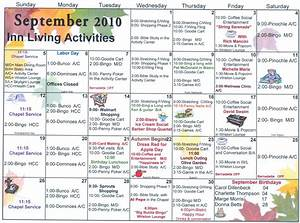 september assisted living activities welcome to sun With assisted living activity calendar template