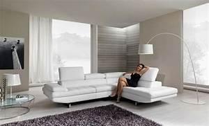 le canape d39angle arrondi comment choisir la meilleure With tapis moderne avec canapé en cuir de qualité