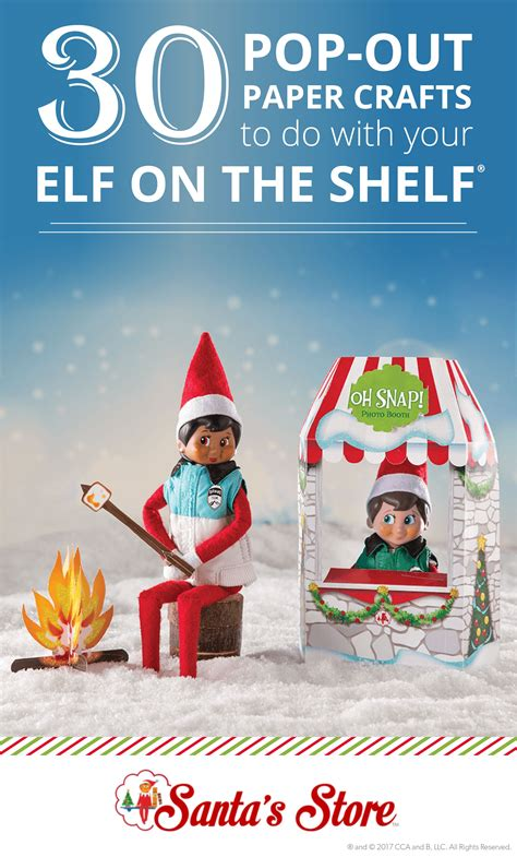 scout elves  play paper crafts elves  play elf