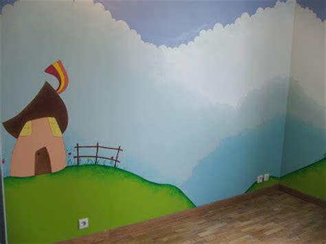peinture d une chambre séverine peugniez créations peinture murale dans une