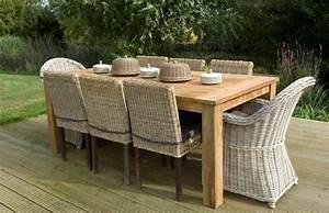 Table En Teck Jardin : salon de jardin en teck tout type de meubles en 20 photos ~ Melissatoandfro.com Idées de Décoration