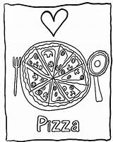 Pizza Coloring Pages Printable Sheet Valentine Candy Delicious Valentines Popular Getcolorings Foods Halloween Bestcoloringpagesforkids sketch template