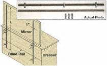 woodworker com heavy duty mirror support rails