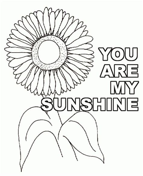 sunshine sunflower coloring pagegif