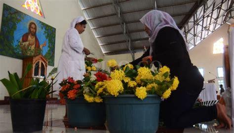 umat kristen  islam tunjukkan toleransi tinggi  hari