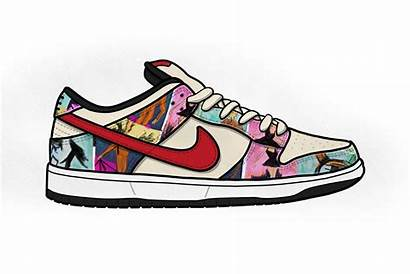 Nike Transparent Dunk Sb Sneakers Shoe Clipart