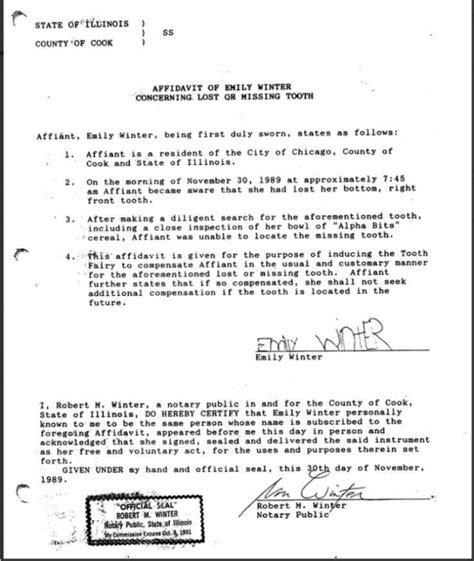lawyer parents require signed  notarized affidavit