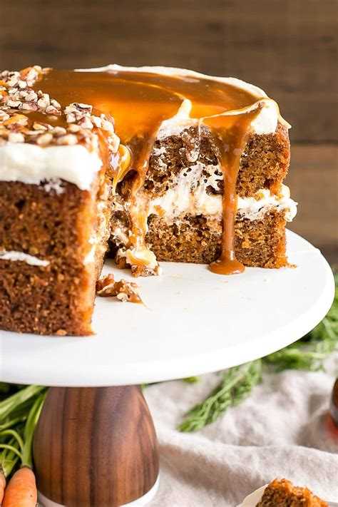 maple caramel carrot cake  cream cheese frosting liv