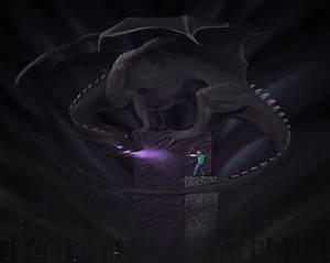 Ender dragon at the final battle in the end ...