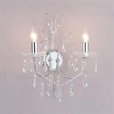 madonna wall light 2 light chrome from litecraft