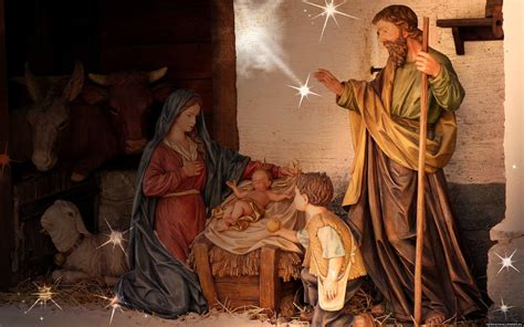 Jesus Birth Images Wallpaper by Nativity Desktop Wallpaper 51 Images