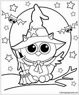 Coloring Pages Witch Printables Witches Getcolorings Pag sketch template