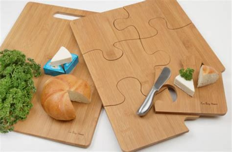 The Puzzle Cutting Board Separates Into Serving