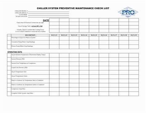 The army maintenance management system. Preventive Maintenance Schedule format Pdf | Peterainsworth