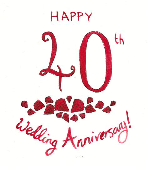 vallance ruby wedding anniversary - Ruby Wedding Anniversary