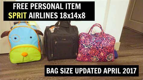 personal bag spirit airlines april  xx