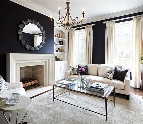 and black living room black and white living rooms design ideas White
