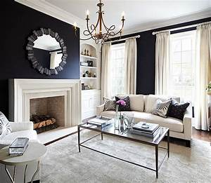 Black and white living rooms design ideas for Kitchen cabinet trends 2018 combined with flock of birds wall art