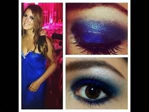 look du soir avec ma robe eva longoria youtube With maquillage robe bleu