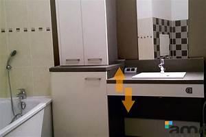 hauteur plan vasque sdb obasinccom With meuble salle de bain handicapé