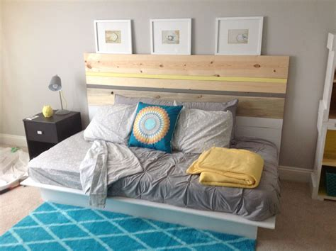 The Results During My Diy Headboard And Platform Bed For
