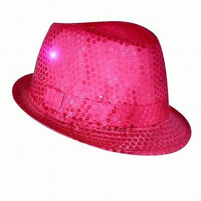 Hat Flashing Pink Fedora Led Sequins Magic