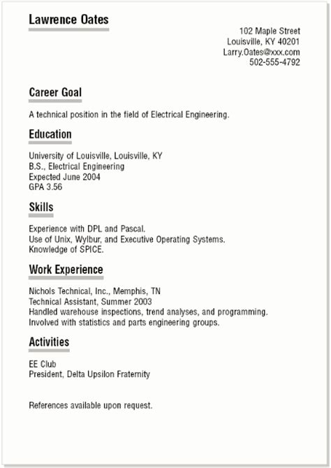 11 how to make a resume for a highschool student
