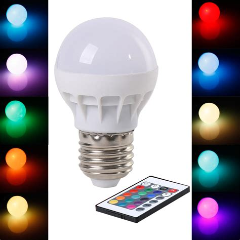 rgb led bulb e27 3w wireless led lights ac85 265v led l