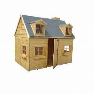 Maison Bois Pour Enfant : maisonnette en bois cerland rosalie castorama ~ Premium-room.com Idées de Décoration