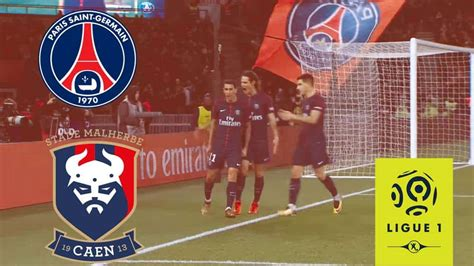 HALF TIME: PSG 2-0 Caen all goals and highlights (VIDEO)