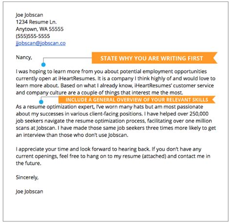 How To Write An Excellent Cover Letter For A by Cover Letter Exles Jobscan