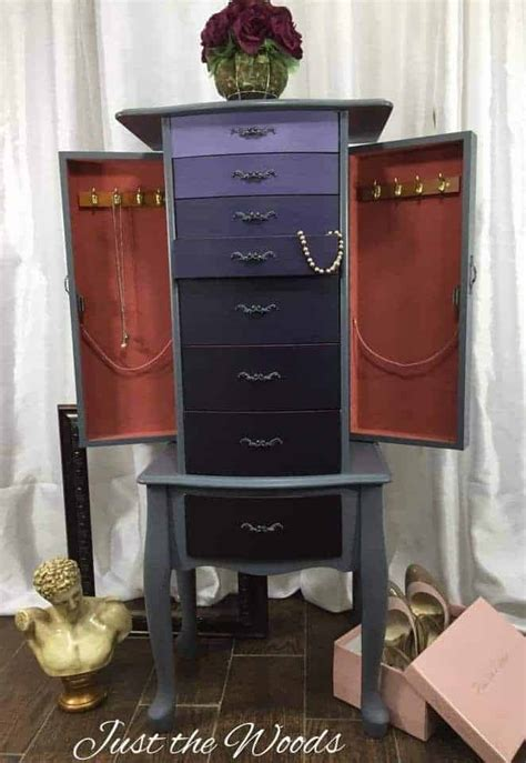 Painted Jewelry Armoire How To Create An Ombre Painted Finish On A Jewelry Armoire
