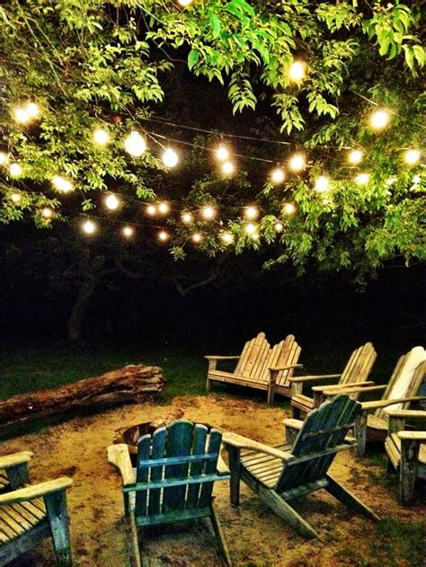 25 best lights in trees ideas on backyards