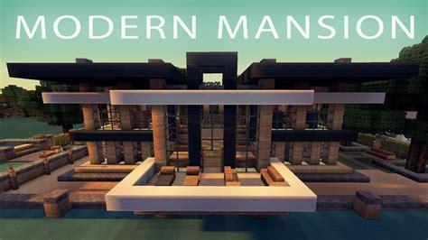 minecraft modern house mansion  youtube