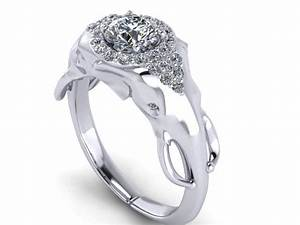 Elephant engagment ring with half carat diamond center and for Elephant wedding ring