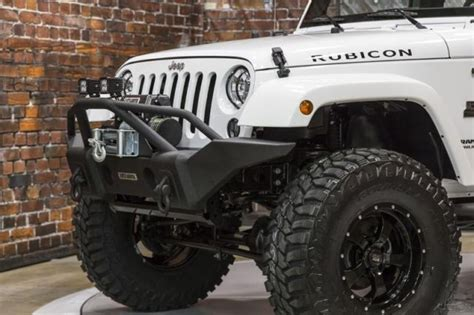 jeep rubicon white with black rims 15 rubicon white manual black mountain lift wheels tires