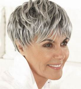 Couleur Ou Meche Pour Cacher Cheveux Blancs : coiffure courte pour cheveux blancs ~ Melissatoandfro.com Idées de Décoration